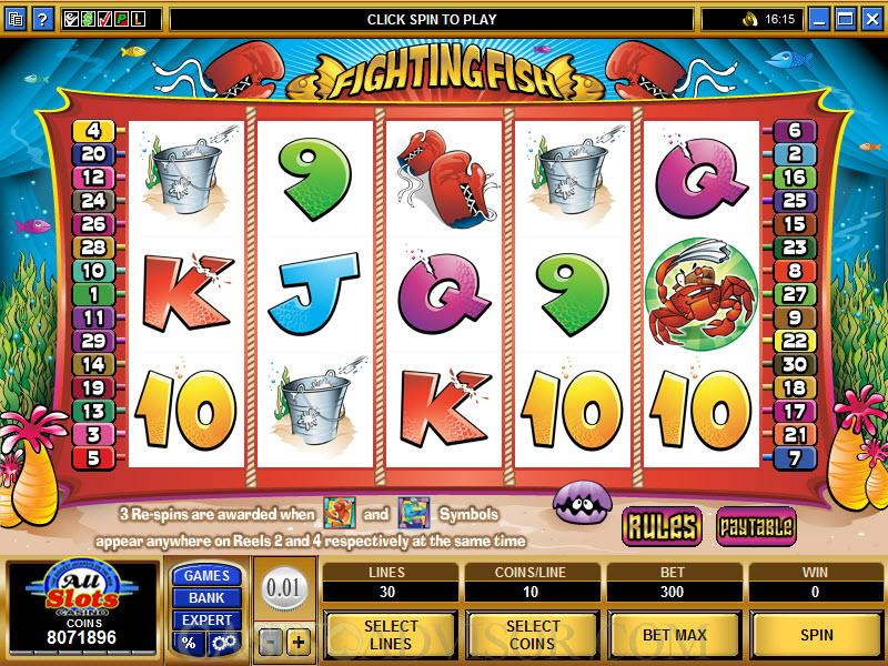 Fighting Fish Slot Review Screenshot