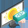 Depositbonus icon for verified online casinos in Canada