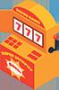 Slotmachine icon for casino guides in Canada