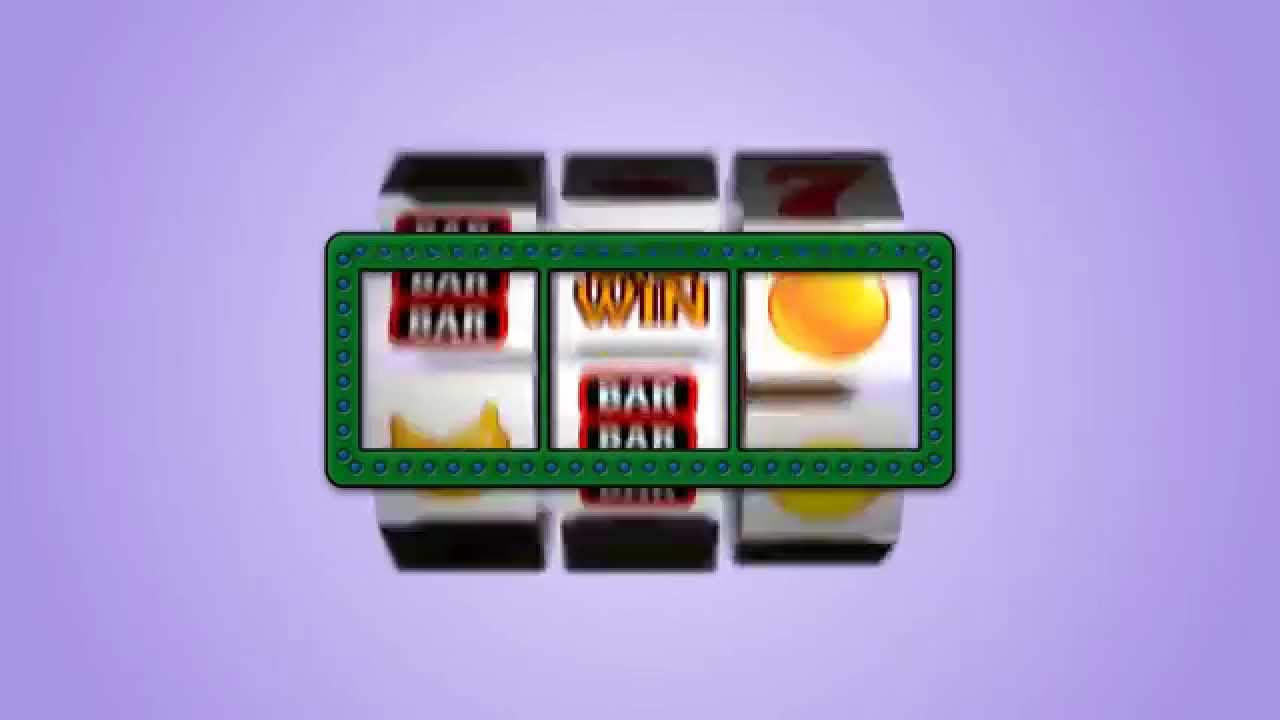 Slot machine motion graphic